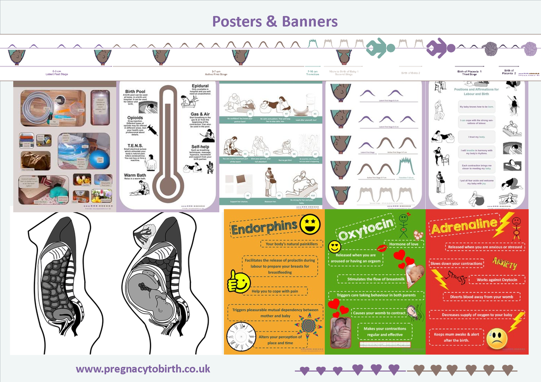 Materials for childbirth education - posters